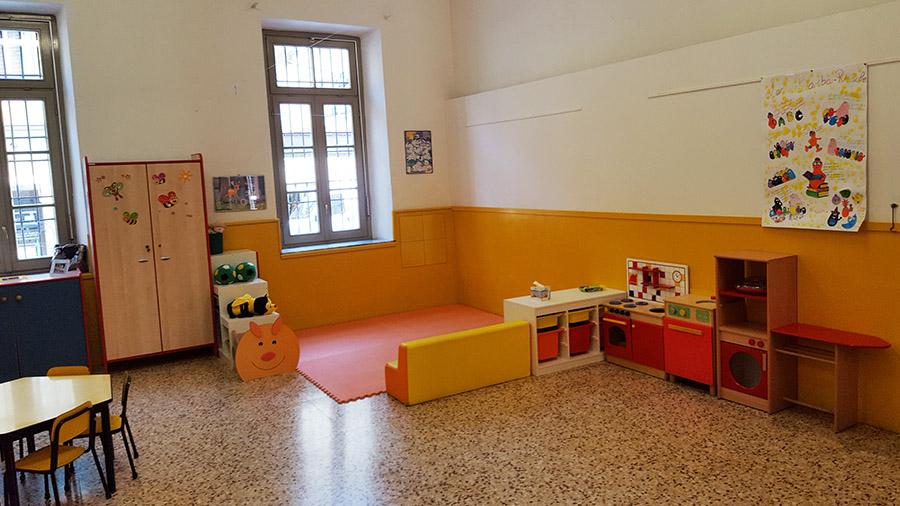 La classe gialla della scuola materna Sacra Famiglia
