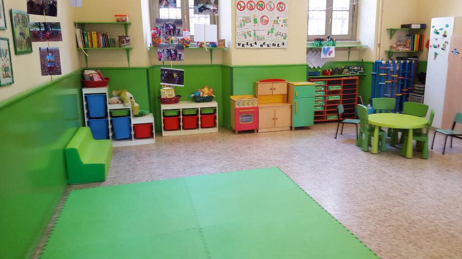 La classe verde della scuola materna Sacra Famiglia