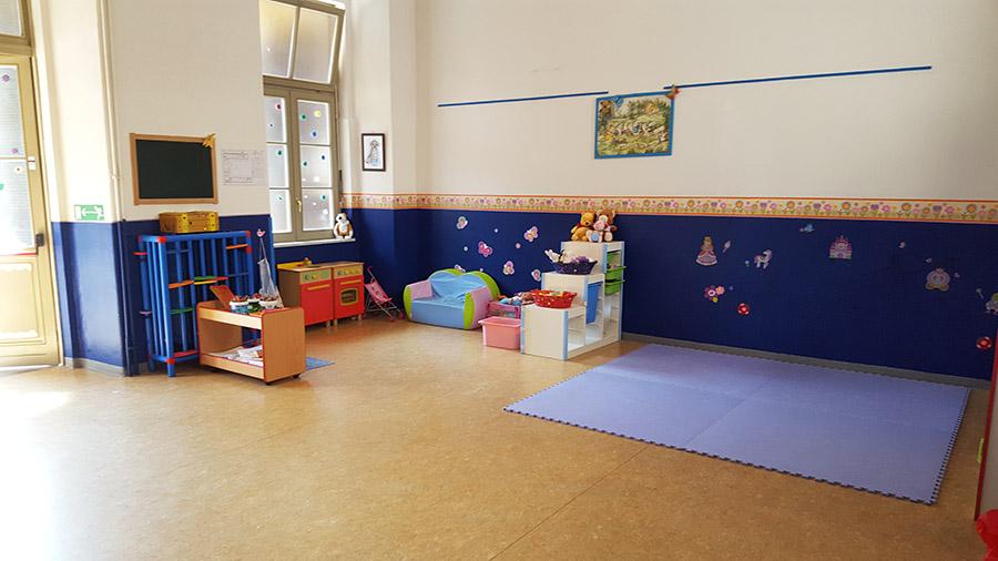 La classe blu della scuola materna Sacra Famiglia