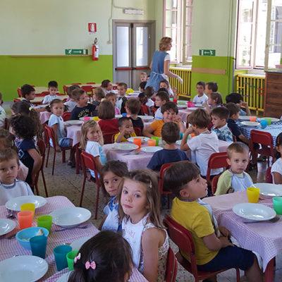 La mensa della scuola materna Sacra Famiglia